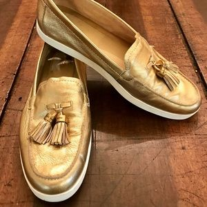 Michael Kors Gold Tassel Loafers